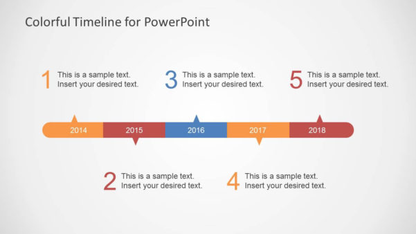 Colorful Timeline Template For Powerpoint   Slidemodel With Project Timeline Template Ppt Free