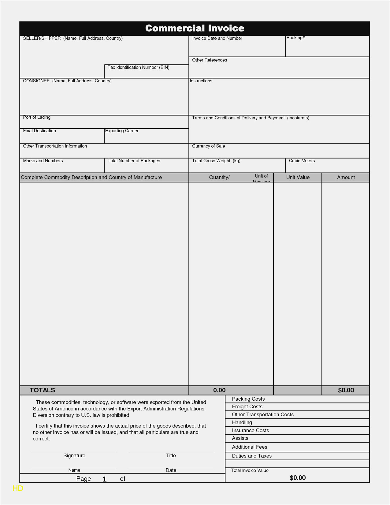 Commercial Invoice Template Excel Free Download Free Invoice And Invoice Template Excel Free Download