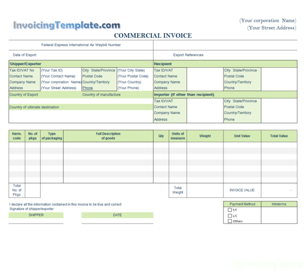 Commercial Invoice Templates   20 Results Found With Artist Invoice Samples
