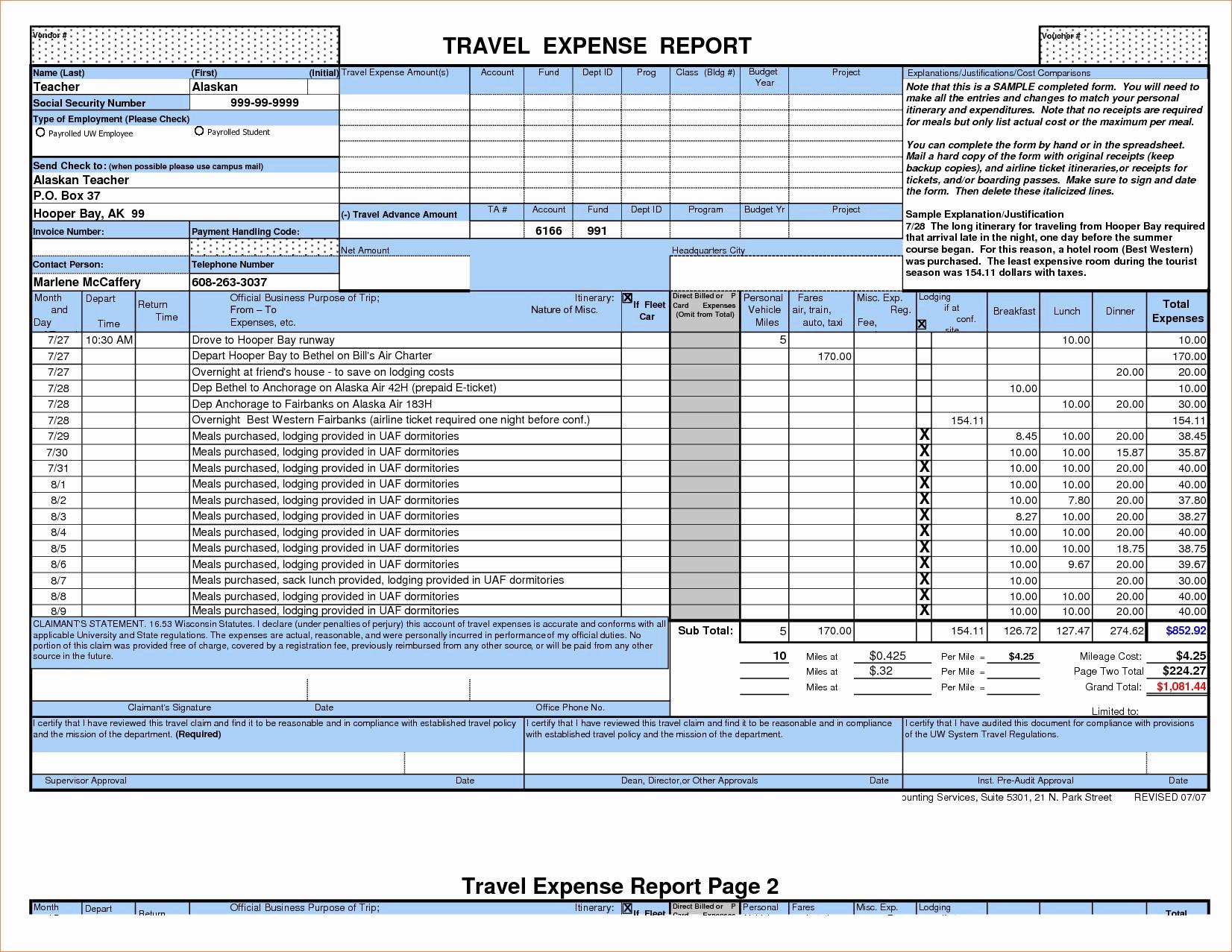 Company Expense Report Template Unique 50 Unique Annual Expense With Company Expense Report