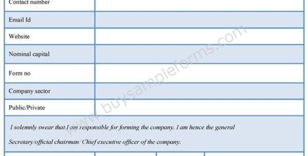 Company Registration Form | Company Registration Template Intended For Business Registration Application Form