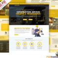 Construction Company Website Template Free Psd | Psdfreebies With Company Templates