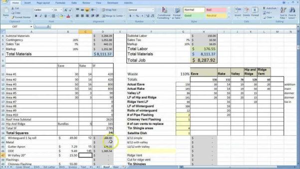 Construction Estimating Excel Spreadsheet | Sosfuer Spreadsheet Within Excel Spreadsheet For Construction Estimating