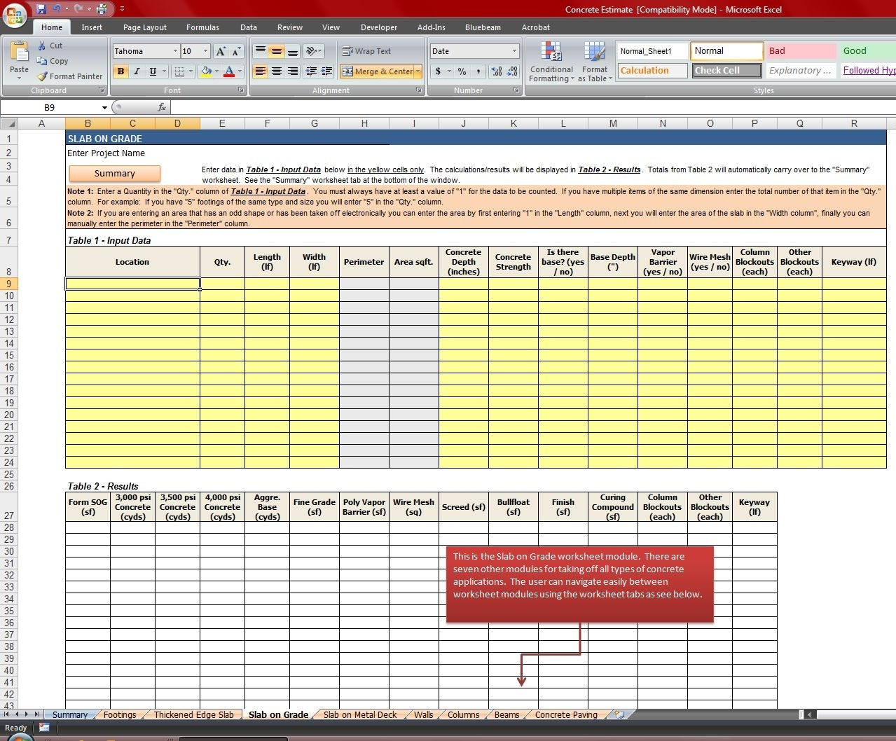 Construction Excel Spreadsheet   Durun.ugrasgrup In Construction Estimating Excel Spreadsheet