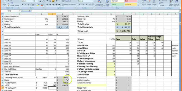 Construction Job Costing Spreadsheet 2018 Spreadsheet Templates In Construction Job Costing Spreadsheet