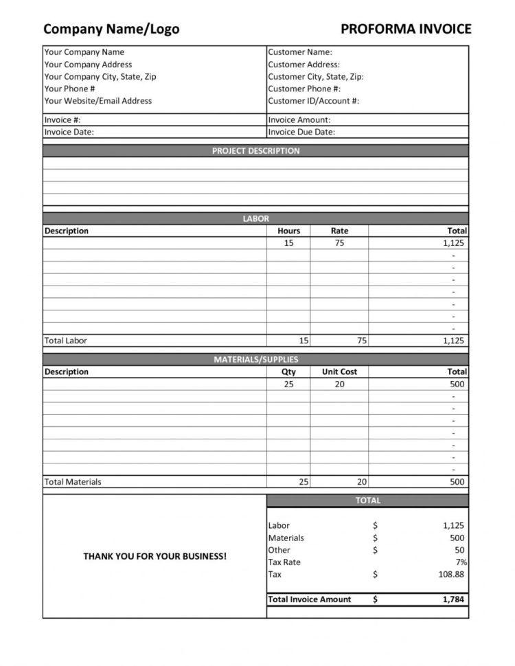 Contract Labor Invoice Template General Labor Invoice Spreadsheet For General Labor Invoice