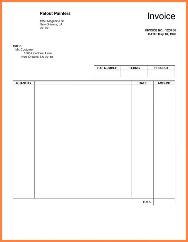 Contractor Invoice Template Docs   Networkuk With Independent Contractor Invoice Sample