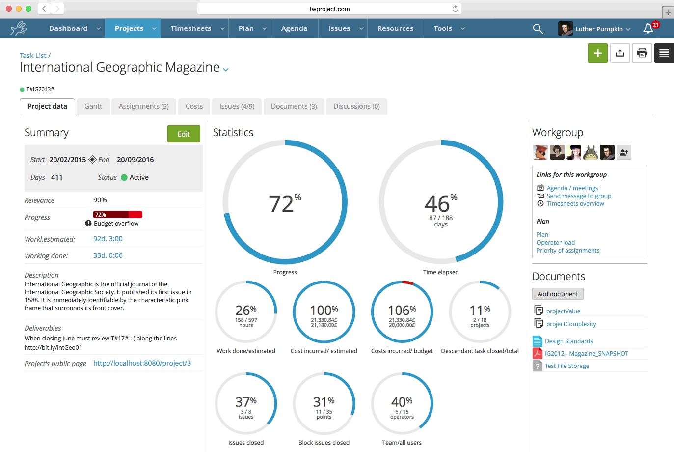 Costs Management With Twproject Twproject: Project Management In Inside Project Expense Tracking