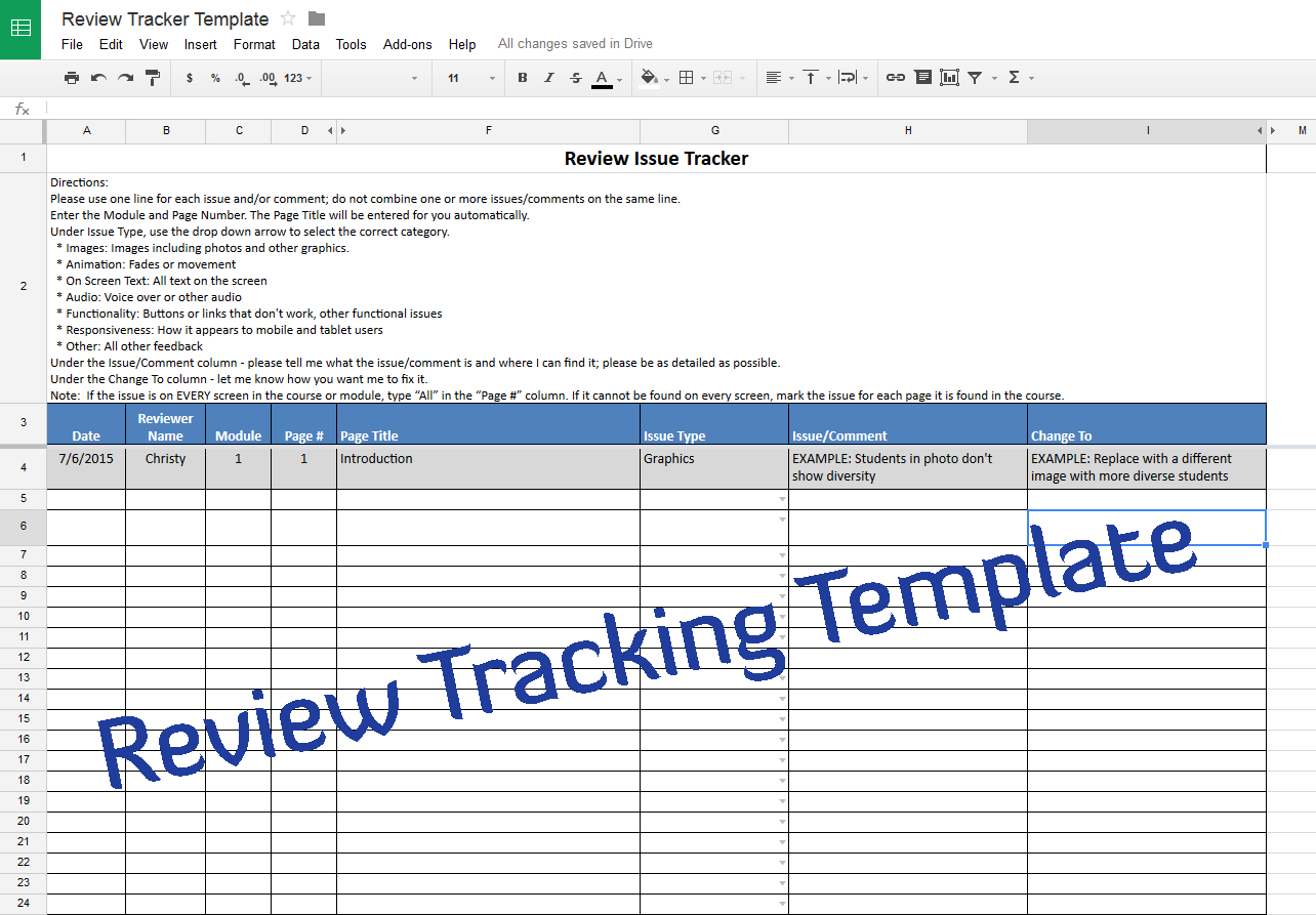 Course Review Tracking Template – Experiencing E Learning With Excel Spreadsheet Courses