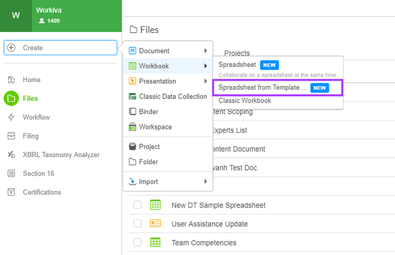 Creating And Importing Spreadsheets | Wdesk   Help With Create Spreadsheets