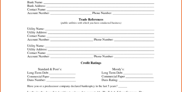 Credit Reference Form | Bio Letter Sample With Business Credit To Business Credit Reference Form