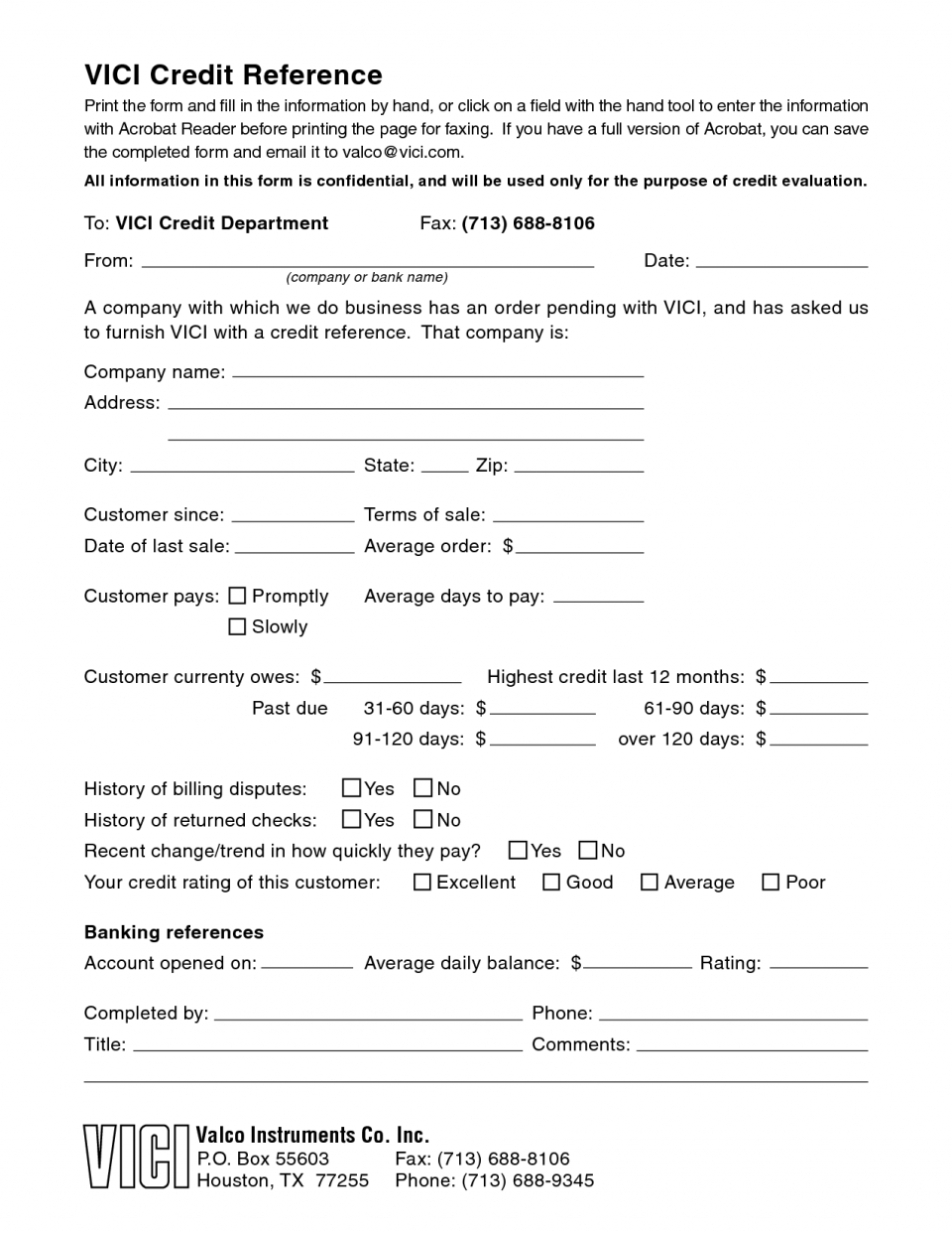 Credit Reference Form Template Word Free Forms | Inherwake And Business Credit Reference Form