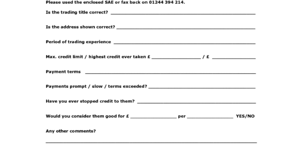 Credit Reference Sheet Template. Urbanmeal Modern Template Ideas In Business Credit Reference Form