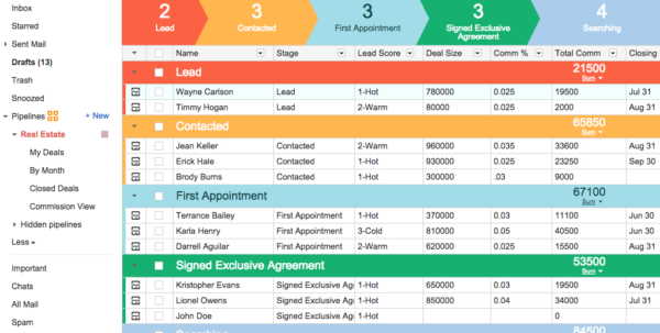 Crm For Real Estate | Streak   Crm For Gmail Inside Real Estate Sales Tracking Spreadsheet