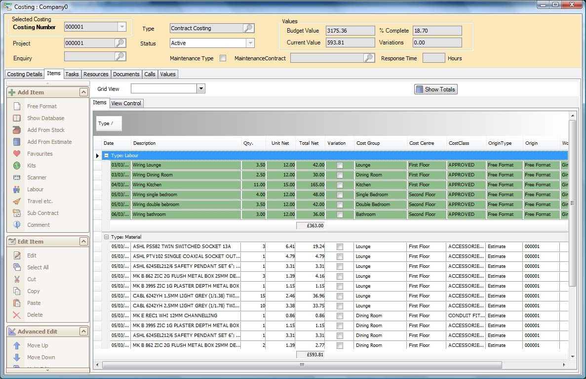 Cypher1 Costing And Planned Maintenance And Business Contract Software