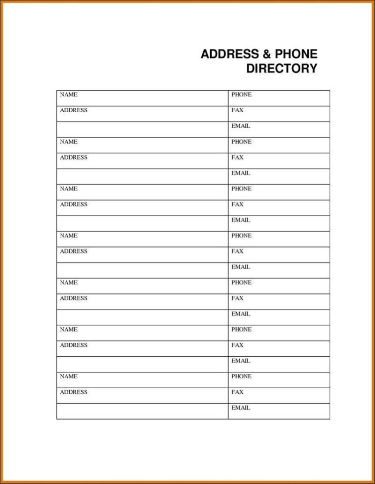 Daily Use Of A Phone List Template #272   Searchexecutive To Email Contact List Template