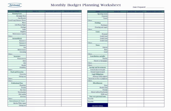 Dave Ramsey Budget Spreadsheet Template To Bills Spreadsheet Template