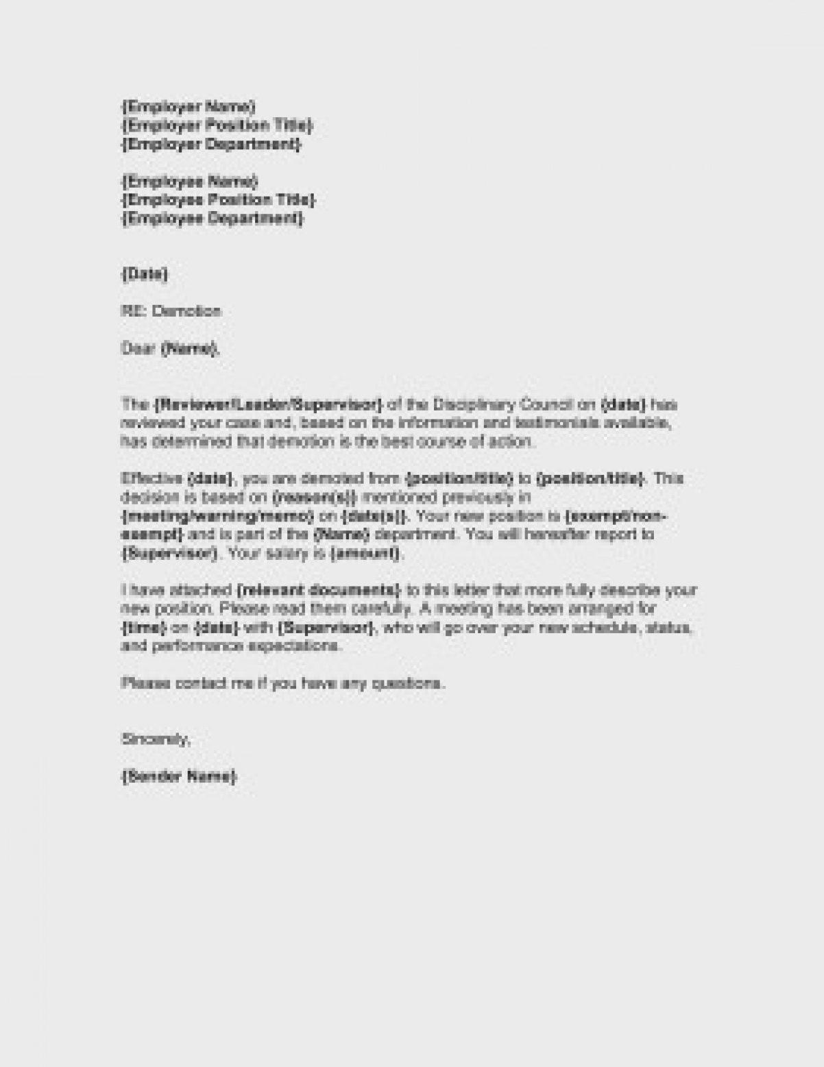 Demotion Letter Sample Of Kitchen Business Form Template Intended For Business Form Templates