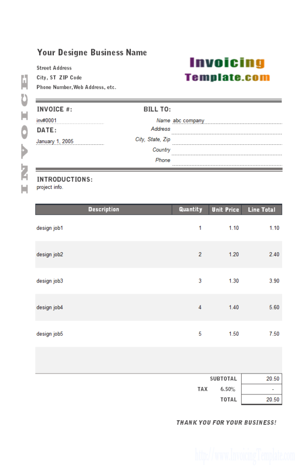 Designer Invoice Templates In Excel   20 Results Found And Billing Spreadsheet Template