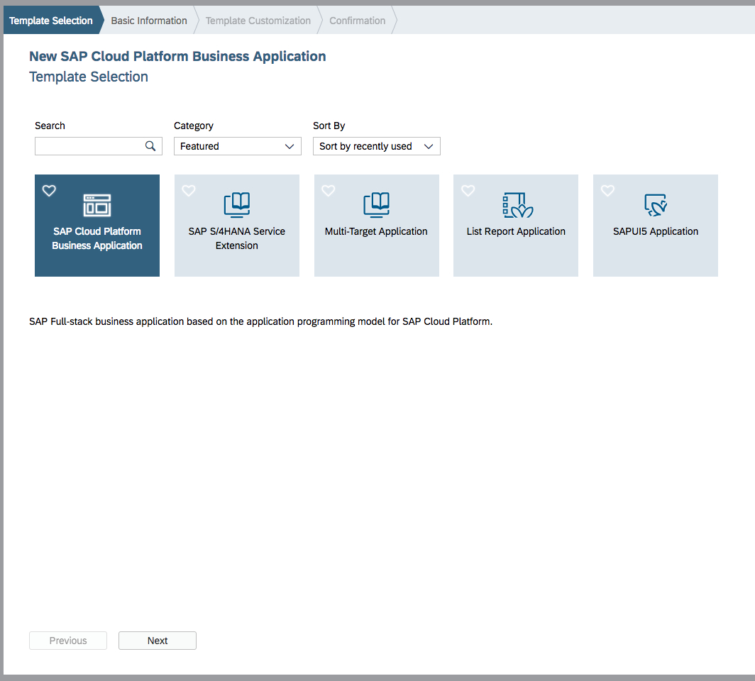 Develop Sap Cloud Platform Business Applications With Sap Web Ide Throughout Business Applications Template