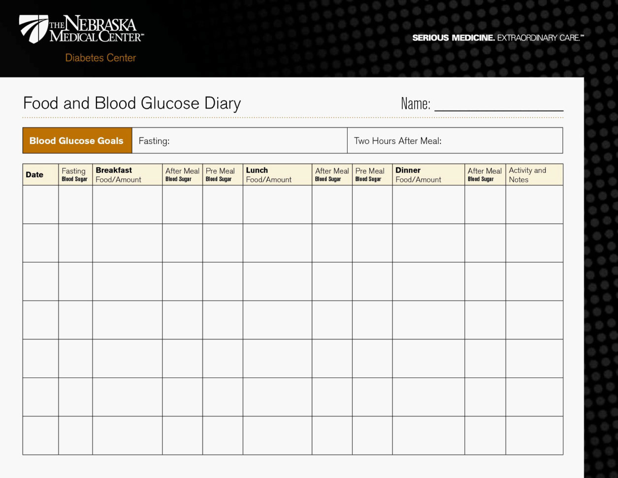 Diabetes Goal Tracker Information Type 2 Diabetes Blood Sugar Chart Within Diabetes Spreadsheet