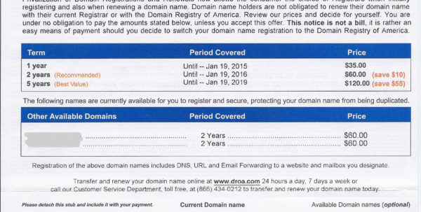 Don't Be Fooleddomain Renewal Letters And Domain Name Invoice