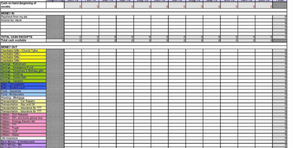 Download Excel Spreadsheet Template For Expenses Excel Personal To Personal Expense Tracking Spreadsheet Template