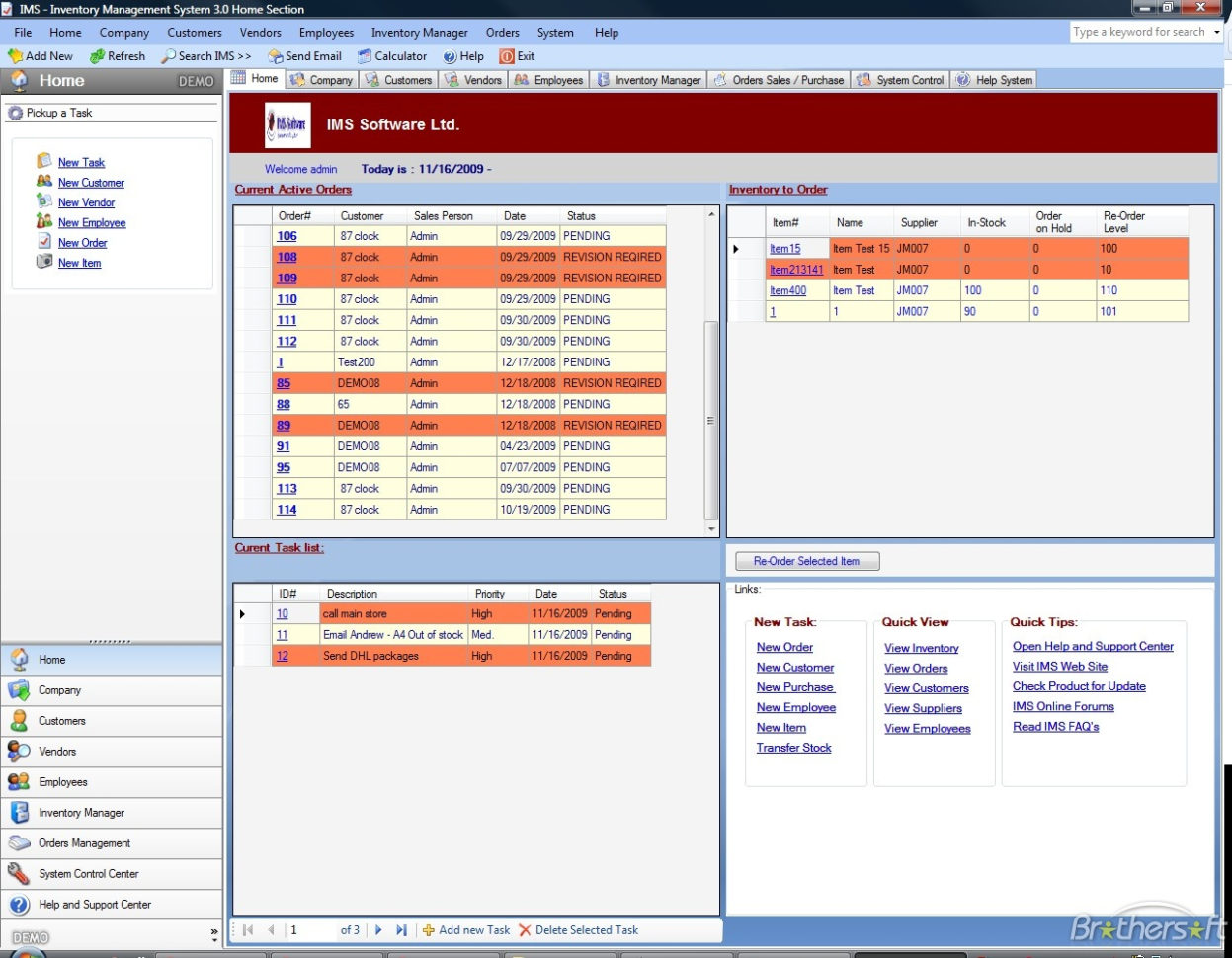 Download Free Ims   Inventory Management Software, Ims   Inventory Inside Inventory Management Spreadsheet Free Download