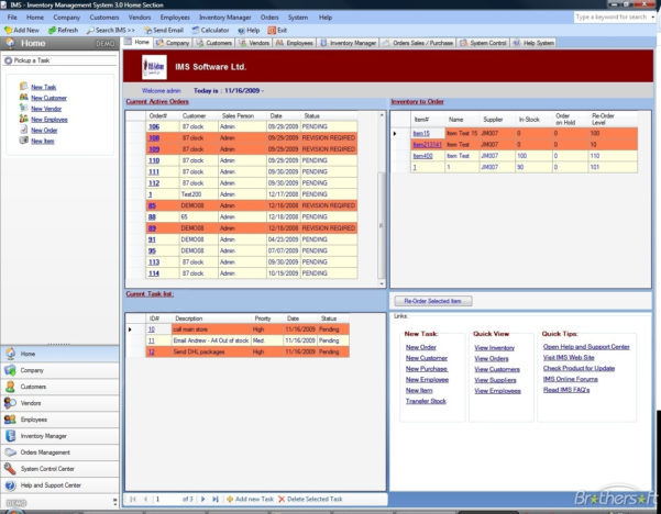 Download Free Ims Inventory Management Software, Ims Inventory To Throughout Inventory Management Website Template Free Download