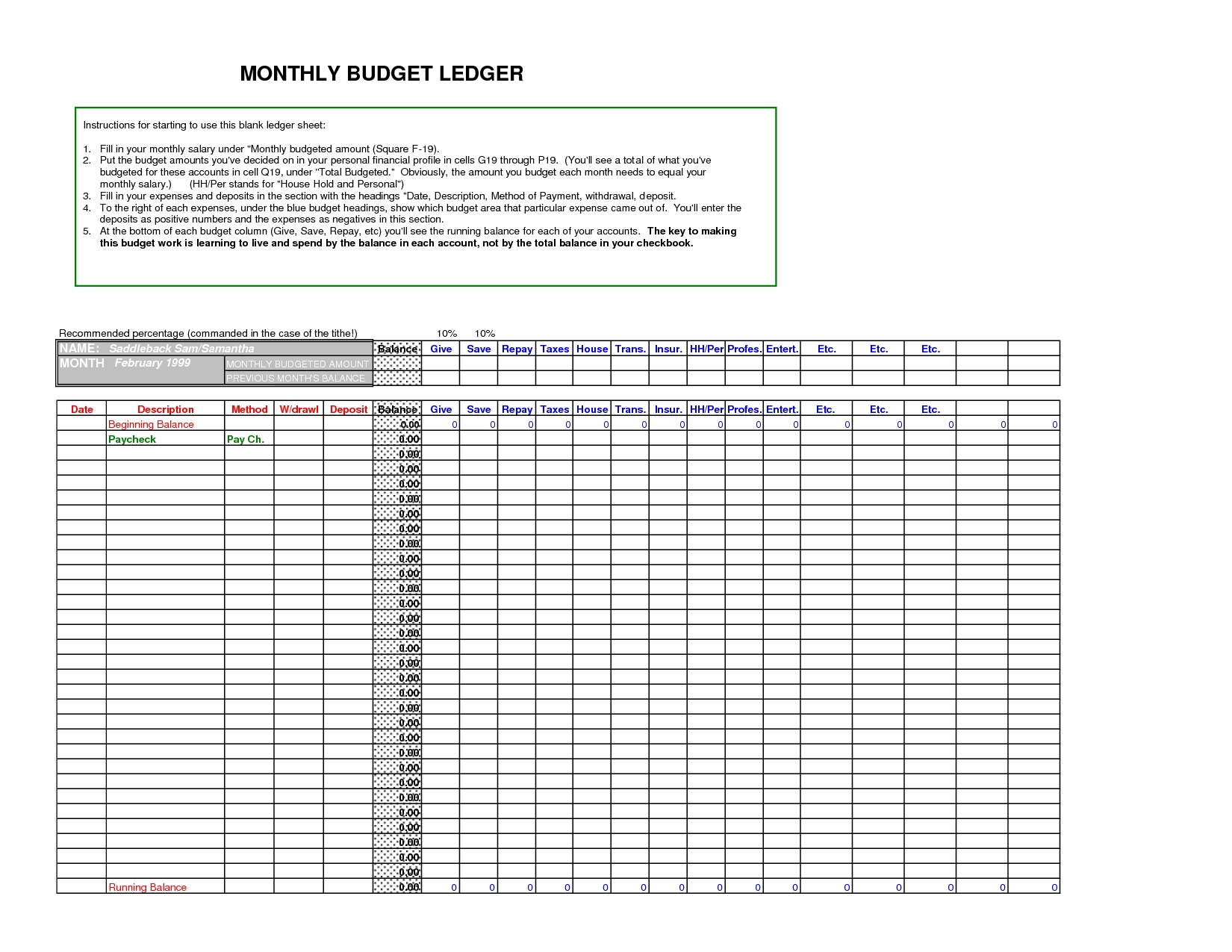 Download General Ledger Templates Docs Inside Small Business General Within Small Business General Ledger Template