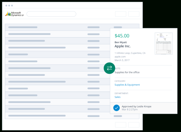 Dynamics Expense Reporting Software For Office Expense Report