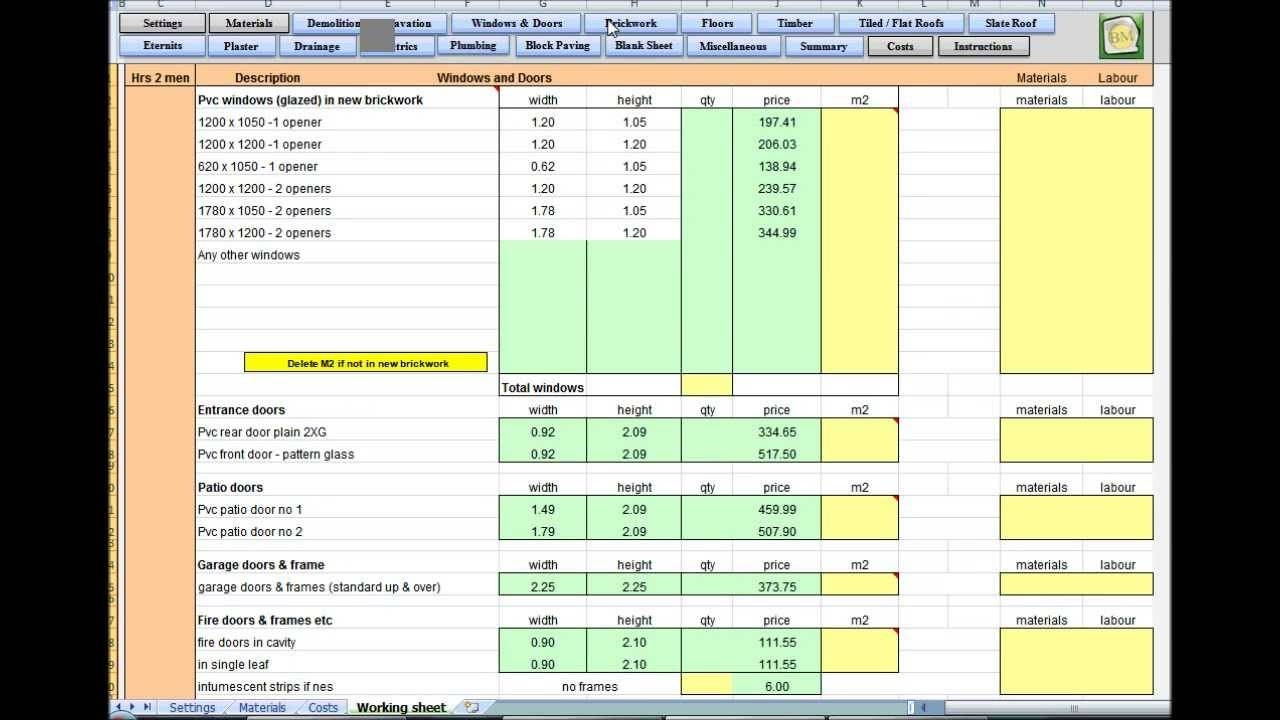 Earthwork Estimating Spreadsheet Download | Papillon Northwan With Earthwork Estimating Spreadsheet