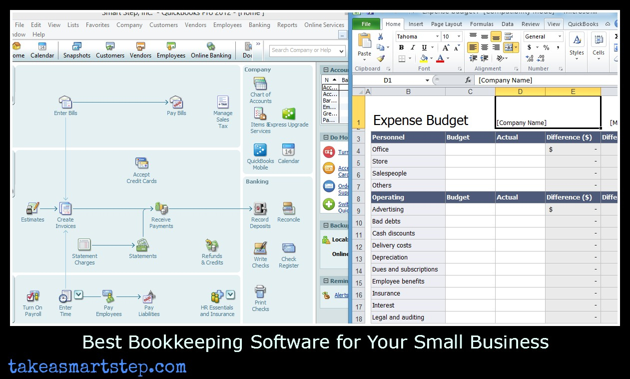 Easy Ways To Track Small Business Expenses And Income   Take A Smart Inside Spreadsheets For Small Business Bookkeeping