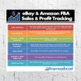 Ebay Amazon Fba Sales & Profit Tracking Break Even | Etsy Throughout Ebay And Amazon Sales Tracking Spreadsheet
