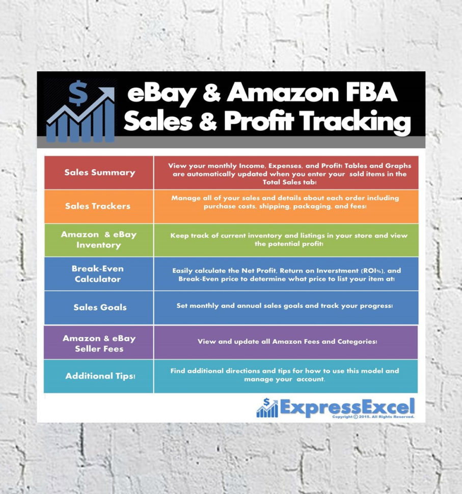 ebay and amazon sales tracking spreadsheet  Ebay Amazon Fba Sales & Profit Tracking Break Even | Etsy Throughout Ebay And Amazon Sales Tracking Spreadsheet Ebay And Amazon Sales Tracking Spreadsheet Tracking Spreadshee