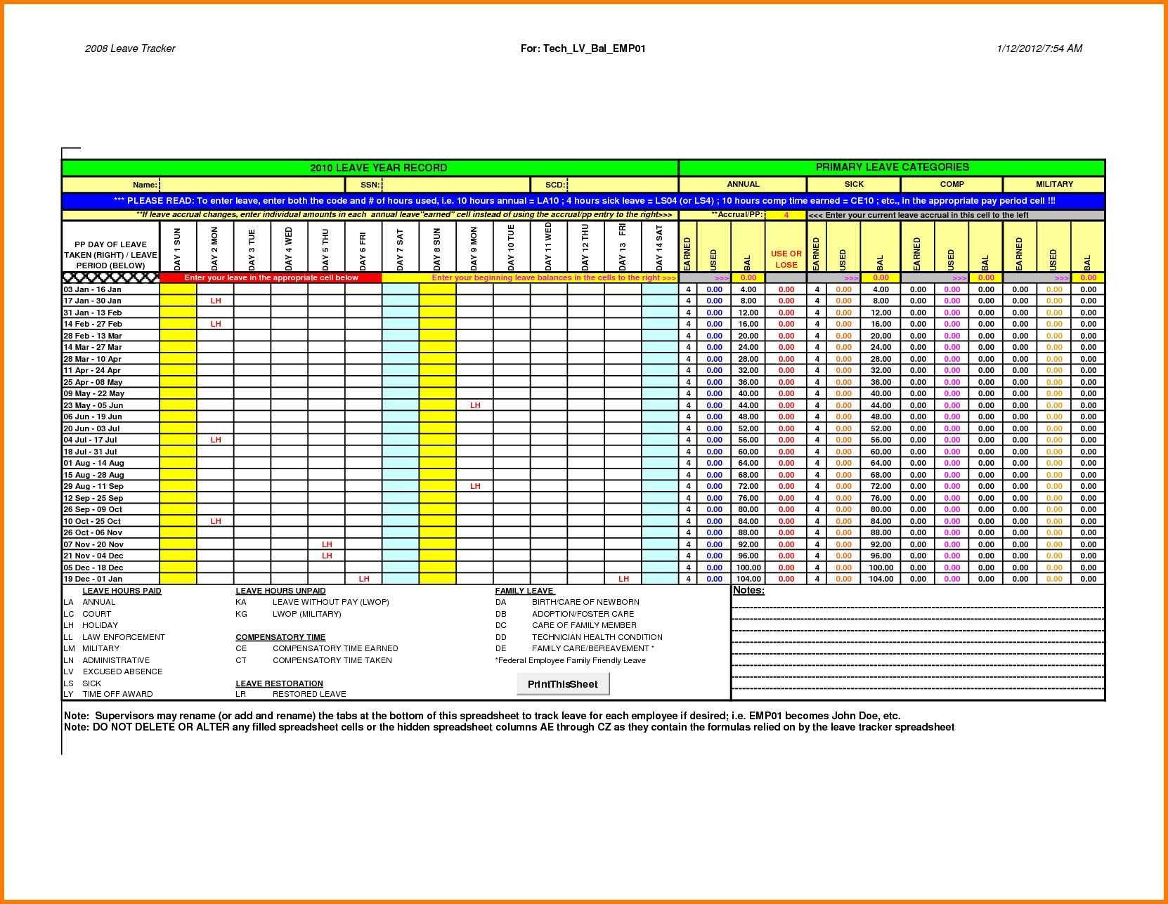 Employee Attendance Tracker Excel Template Valid Luxury Excel Inside Attendancetracking Spreadsheet Template