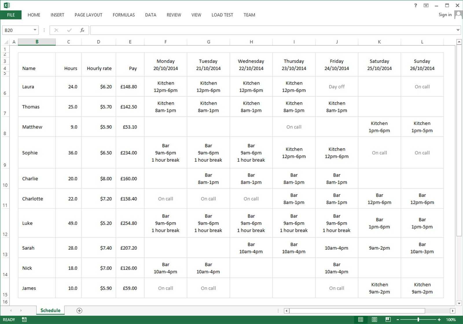 Employee Schedule Excel Spreadsheet   Sosfuer Spreadsheet With Scheduling Spreadsheet
