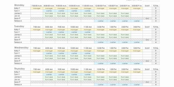 Employee Schedule Spreadsheet Template On How To Make An Excel For Employee Schedule Spreadsheet