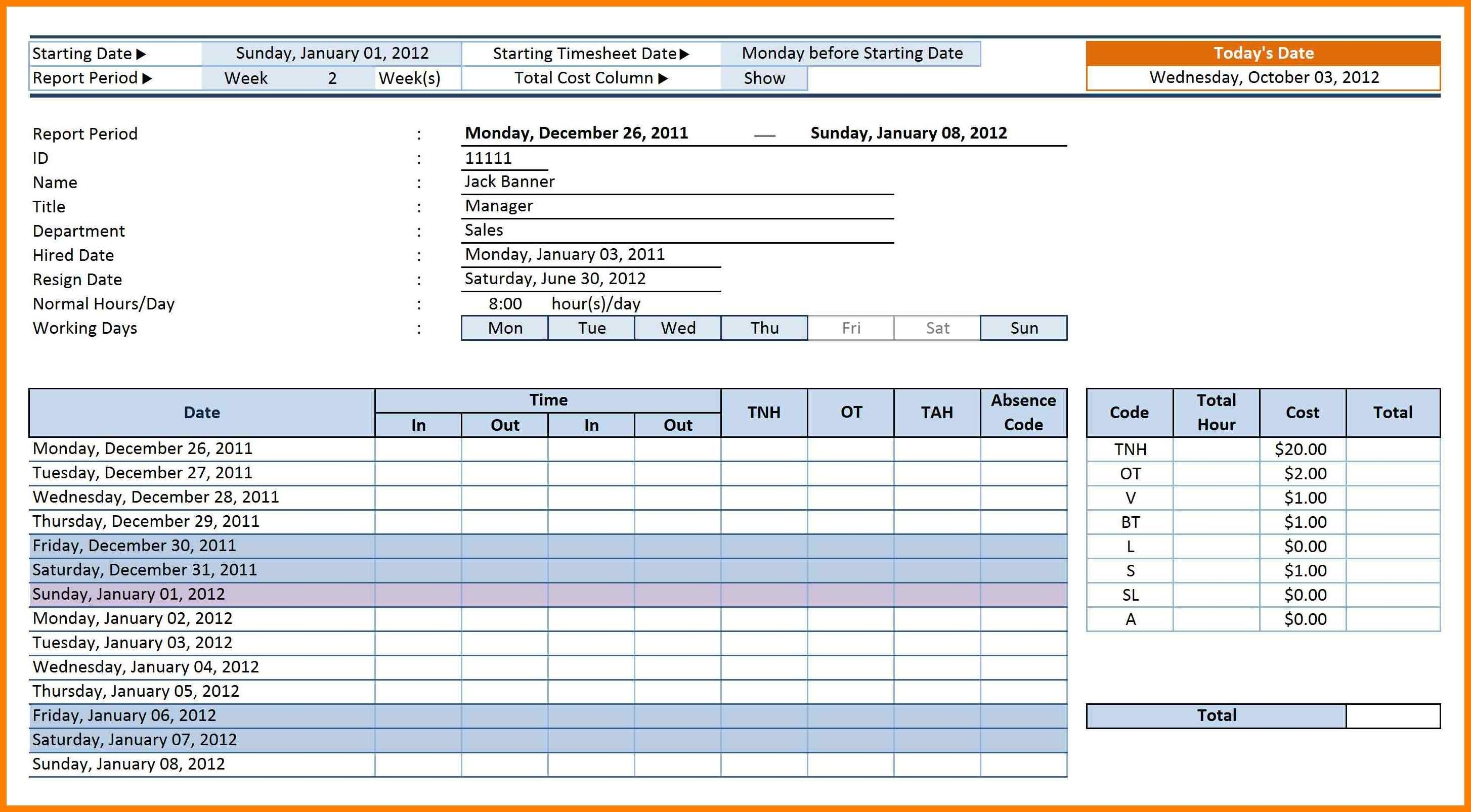 Employee Time Tracking Sheet Excel 4   Isipingo Secondary Within Employee Time Tracking In Excel