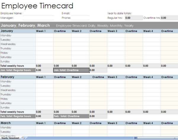 Employee Time Tracking Spreadsheet Template – Spreadsheet Collections With Employee Time Tracking Spreadsheet Template