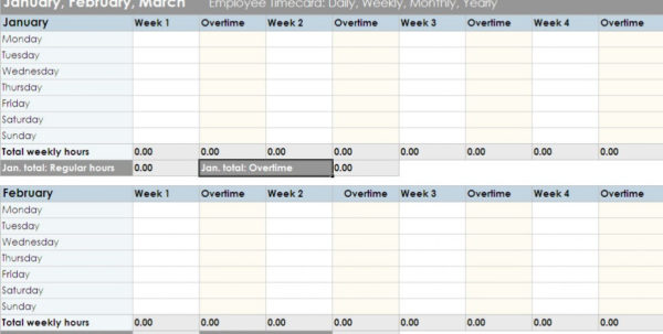 Employee Timesheet Template Excel Spreadsheet 3   Isipingo Secondary In Employee Timesheet Spreadsheet