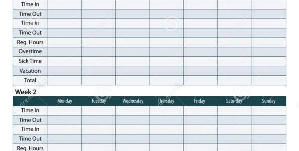 Employee Timesheet Template Stock Vector   Illustration Of Template Intended For Employee Timesheet Template