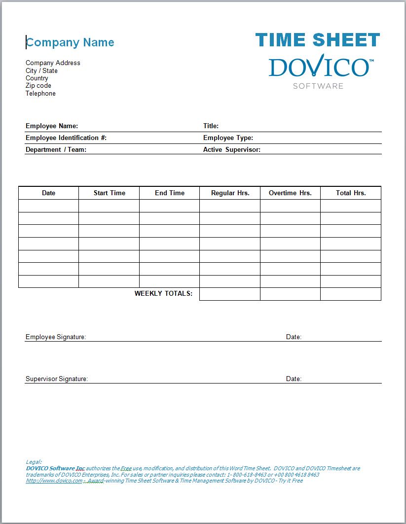 Employee Timesheet Templates Dawaydabrowaco With Regard To Employee Within Payroll Timesheet Template
