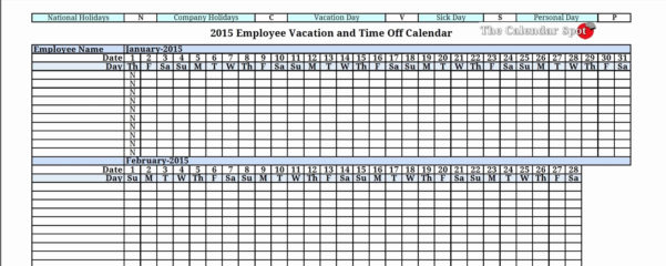Employee Vacation Tracking Spreadsheet Template 2   Isipingo Secondary Intended For Vacation Tracking Spreadsheet
