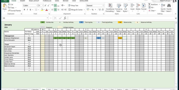 Employee Vacation Tracking Spreadsheet Template 9   Isipingo Secondary With Vacation Tracking Spreadsheet Vacation Tracking Spreadsheet Spreadsheet Software