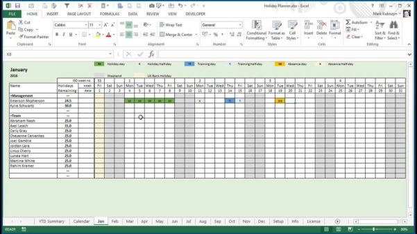 Employee Vacation Tracking Spreadsheet Template 9   Isipingo Secondary With Vacation Tracking Spreadsheet