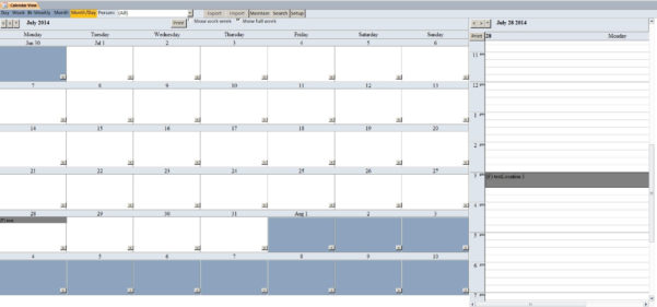 Enhanced Microsoft Access Calendar Scheduling Database Template For Customer Database Template Access