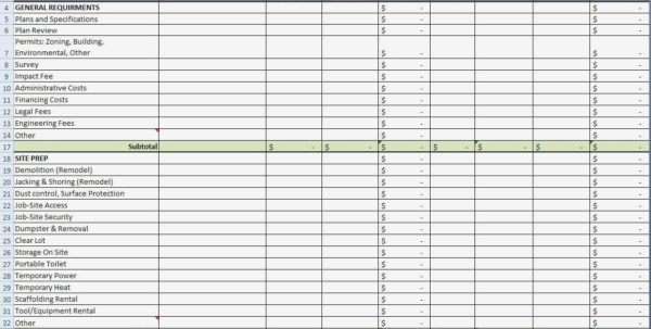 Estimate Spreadsheet Template Project Cost Onlyagame Pertaining For Construction Estimate Spreadsheet