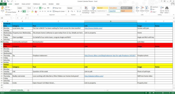 Example Of Budget Spreadsheet App Excel Content Planner Screenshot And Budget Spreadsheet App