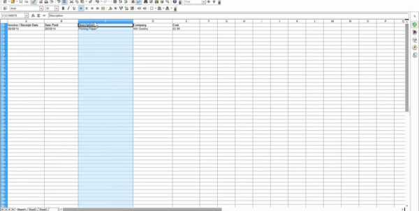 Example Of Business Expenses Spreadsheet Template Excele Accounting Throughout New Business Expenses Spreadsheet